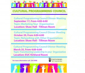 Cultural Programming Council Dinner Events