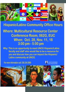 Hispanic-Latino Office Hours Fall 2014